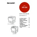 Sharp AR-250 (serv.man8) User Guide / Operation Manual
