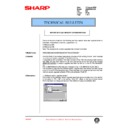 Sharp AR-285 (serv.man109) Technical Bulletin