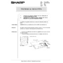 Sharp AR-285 (serv.man154) Technical Bulletin