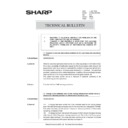 Sharp AR-285 (serv.man162) Technical Bulletin