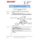 Sharp AR-286 (serv.man23) Technical Bulletin