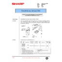 Sharp AR-336 (serv.man73) Technical Bulletin