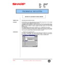Sharp AR-336 (serv.man90) Technical Bulletin