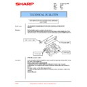 Sharp AR-407 (serv.man22) Technical Bulletin