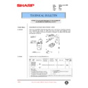 Sharp AR-407 (serv.man73) Technical Bulletin