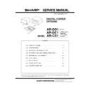 Sharp AR-CS1 Service Manual
