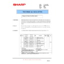 Sharp AR-DE7 (serv.man4) Technical Bulletin