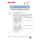 Sharp AR-DE7 (serv.man6) Technical Bulletin
