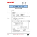 Sharp AR-DE7 (serv.man7) Technical Bulletin