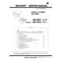 Sharp AR-DE7 Service Manual
