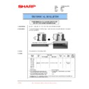 Sharp AR-F200 (serv.man27) Technical Bulletin