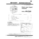 Sharp AR-F200 (serv.man3) Service Manual