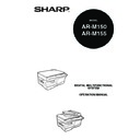 Sharp AR-M150 (serv.man6) User Guide / Operation Manual