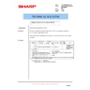 Sharp AR-M205 (serv.man67) Technical Bulletin