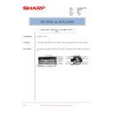 Sharp AR-M205 (serv.man78) Technical Bulletin