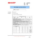 Sharp AR-M276 (serv.man80) Technical Bulletin
