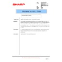 Sharp AR-M300 (serv.man24) Technical Bulletin