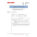 Sharp AR-M550 (serv.man100) Technical Bulletin