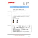 Sharp AR-M620 (serv.man153) Technical Bulletin