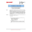 Sharp AR-M700 (serv.man125) Technical Bulletin