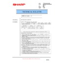 Sharp AR-M700 (serv.man135) Technical Bulletin