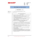 Sharp AR-M700 (serv.man169) Technical Bulletin