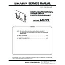 Sharp AR-P27 (serv.man6) Service Manual