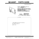 Sharp AR-P27 (serv.man7) Parts Guide