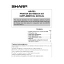 Sharp AR-PB2 (serv.man6) User Guide / Operation Manual