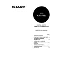Sharp AR-PB2 (serv.man7) User Guide / Operation Manual