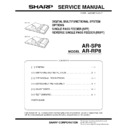 Sharp AR-RP8 Service Manual