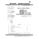 Sharp AR-SP3 (serv.man2) Service Manual