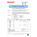 Sharp AR-SP3 (serv.man7) Technical Bulletin