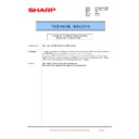Sharp MX-1800N (serv.man108) Technical Bulletin