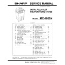 Sharp MX-1800N (serv.man8) Service Manual