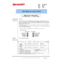 Sharp MX-1800N (serv.man84) Technical Bulletin