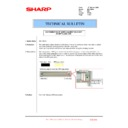 Sharp MX-1800N (serv.man86) Technical Bulletin