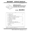Sharp MX-2300N, MX-2700N, MX-2300G, MX-2700G, MX-2300FG, MX-2700FG (serv.man11) Service Manual