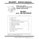 Sharp MX-2300N, MX-2700N, MX-2300G, MX-2700G, MX-2300FG, MX-2700FG (serv.man13) Service Manual