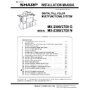Sharp MX-2300N, MX-2700N, MX-2300G, MX-2700G, MX-2300FG, MX-2700FG (serv.man8) Service Manual