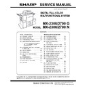 Sharp MX-2300N, MX-2700N, MX-2300G, MX-2700G, MX-2300FG, MX-2700FG (serv.man9) Service Manual