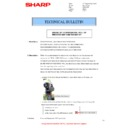 Sharp MX-2600N, MX-3100N, MX-2600G, MX-3100G (serv.man24) Technical Bulletin