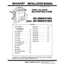 Sharp MX-2600N, MX-3100N, MX-2600G, MX-3100G (serv.man8) Service Manual