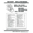 Sharp MX-2610N, MX-3110N, MX-3610N (serv.man14) Service Manual