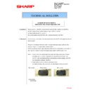 Sharp MX-2610N, MX-3110N, MX-3610N (serv.man169) Technical Bulletin
