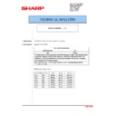 Sharp MX-2610N, MX-3110N, MX-3610N (serv.man170) Technical Bulletin
