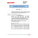 Sharp MX-2610N, MX-3110N, MX-3610N (serv.man179) Technical Bulletin