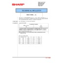 Sharp MX-2610N, MX-3110N, MX-3610N (serv.man181) Technical Bulletin