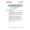 Sharp MX-2610N, MX-3110N, MX-3610N (serv.man187) Technical Bulletin