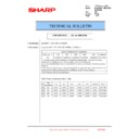 Sharp MX-2610N, MX-3110N, MX-3610N (serv.man203) Technical Bulletin